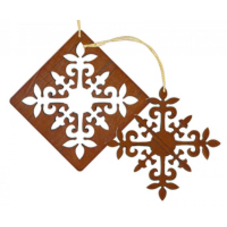 Christmas laser cut wood ornament pc set puakenikeni