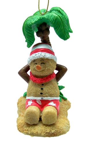 Hawaiian Hawaii Design Island Christmas Ornament Sandman